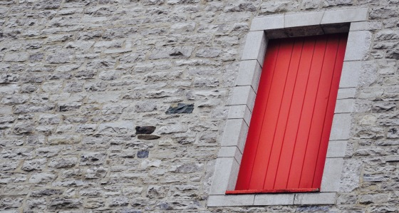 Another favourite - doors or windows isolated on a nice monochromatic wall.