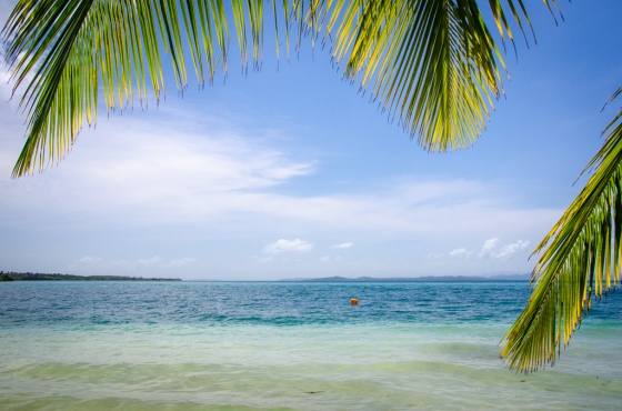 The beach at Bocas del Drago, where we caught the water taxi. Maybe we should have stayed there!