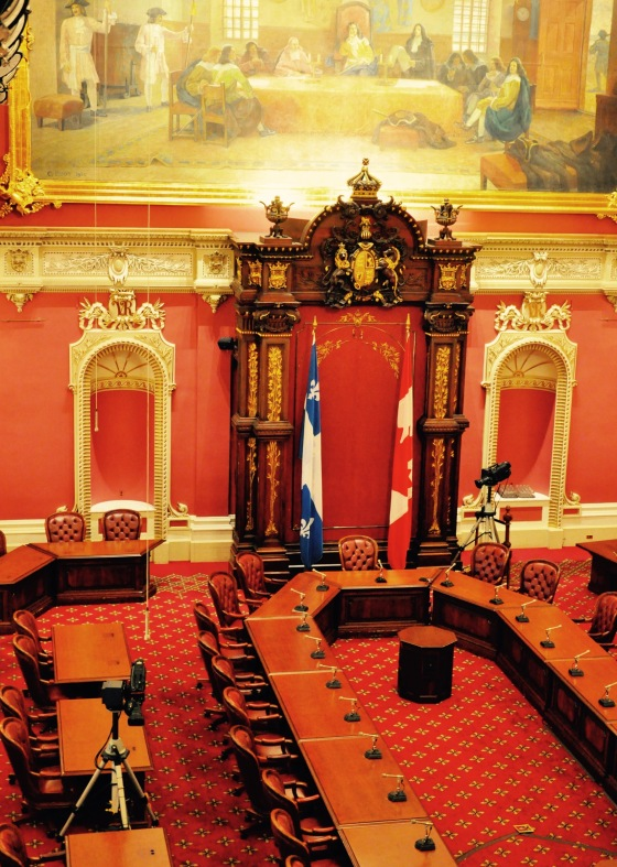 The red chamber - formerly the senate, but now, after the abolition of the provincial senate, it's mainly used for committee meetings.